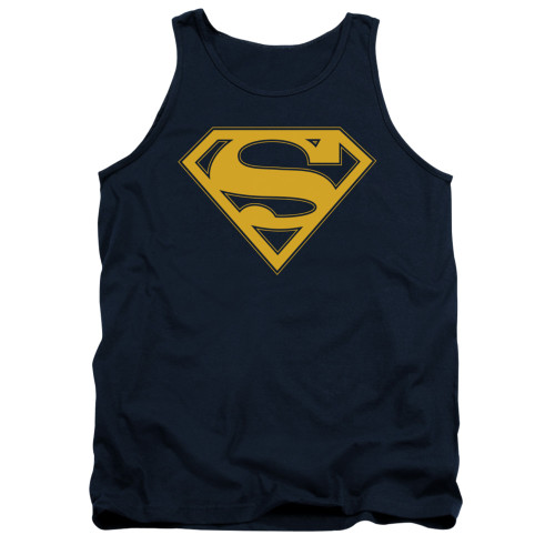 Image for Superman Tank Top - Maize & Blue Shield