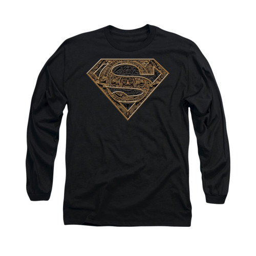 Image for Superman Long Sleeve Shirt - Aztec Shield