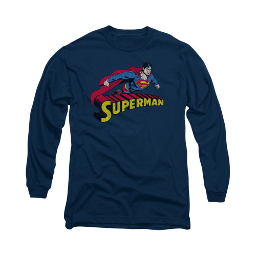 Image for Superman Long Sleeve Shirt - Flying Over