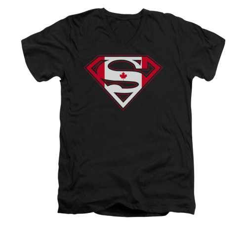 Image for Superman V Neck T-Shirt - Canadian Shield