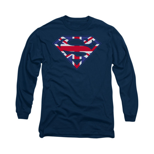 Image for Superman Long Sleeve Shirt - Great Britian Shield