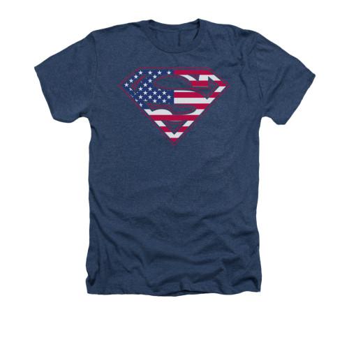 Image for Superman Heather T-Shirt - U S Shield