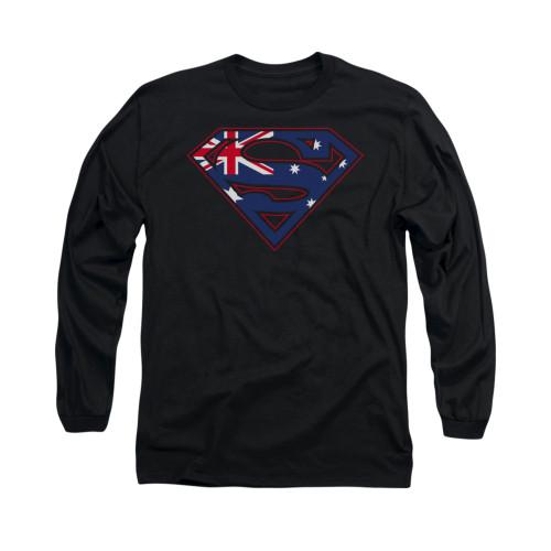 Image for Superman Long Sleeve Shirt - Australian Shield