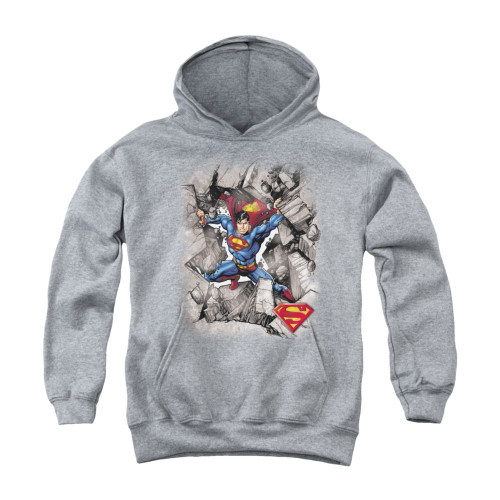 Image for Superman Youth Hoodie - Break Through