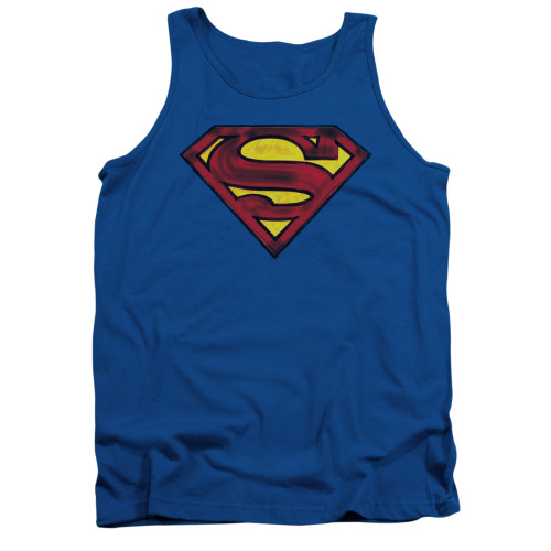 Image for Superman Tank Top - Charcoal Shield