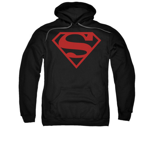 Image for Superman Hoodie - Red On Black Shield