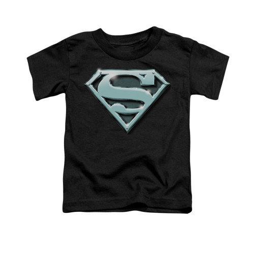 Image for Superman Toddler T-Shirt - Chrome Shield