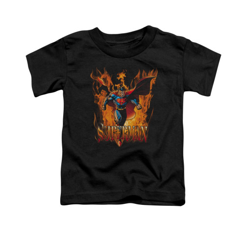 Image for Superman Toddler T-Shirt - Through The Fire