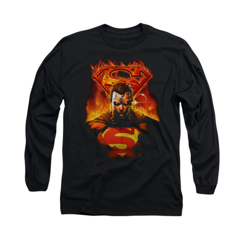 Image for Superman Long Sleeve Shirt - Man On Fire