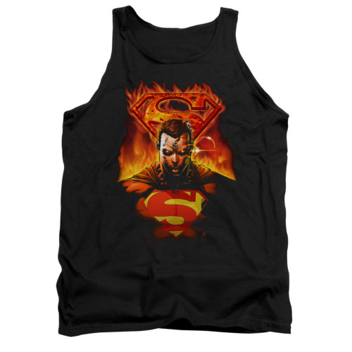 Image for Superman Tank Top - Man On Fire