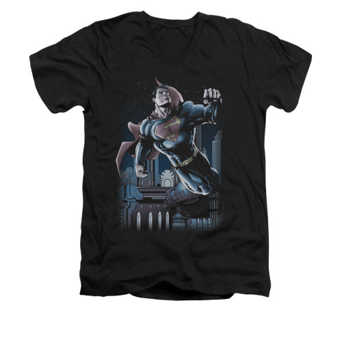 Image for Superman V Neck T-Shirt - Night Fight