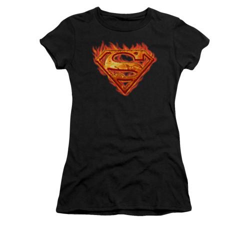 Image for Superman Girls T-Shirt - Hot Metal