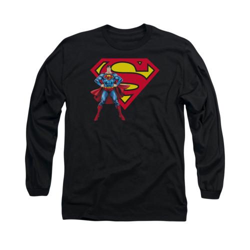Image for Superman Long Sleeve Shirt - Superman & Logo