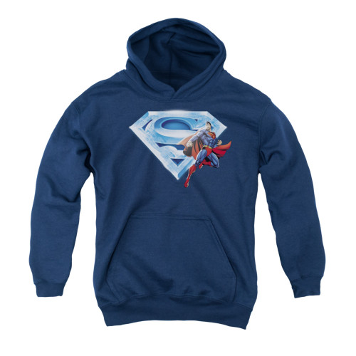 Image for Superman Youth Hoodie - Superman & Crystal Logo