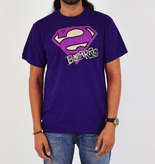 Image for Superman T-Shirt - Bizarro Logo Distressed