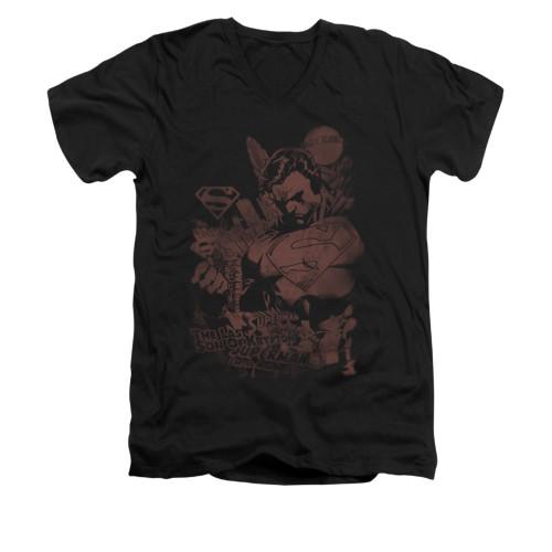 Image for Superman V Neck T-Shirt - Somber Power