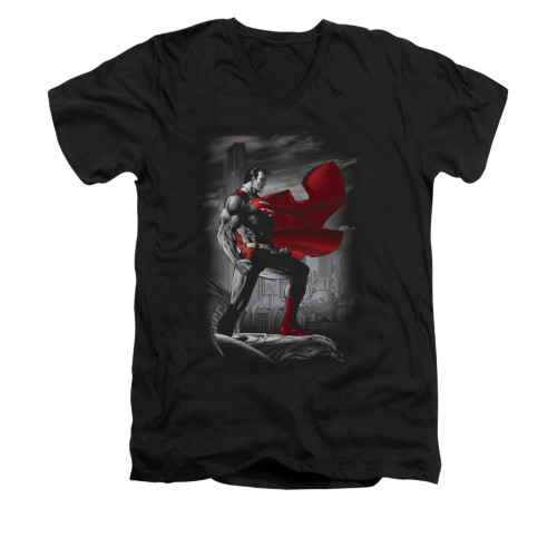 Image for Superman V Neck T-Shirt - Metropolis Guardian