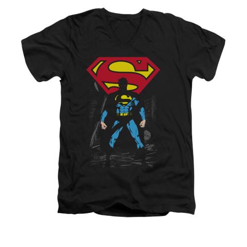 Image for Superman V Neck T-Shirt - Dark Alley