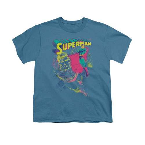 Image for Superman Youth T-Shirt - Super Spray