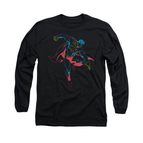 Image for Superman Long Sleeve Shirt - Neon Superman