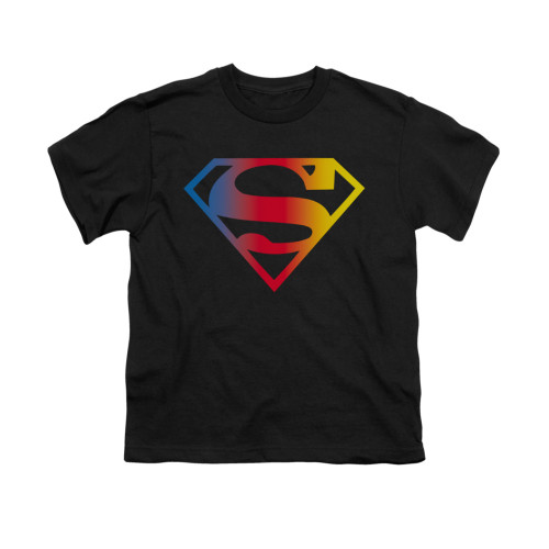 Image for Superman Youth T-Shirt - Gradient Superman Logo