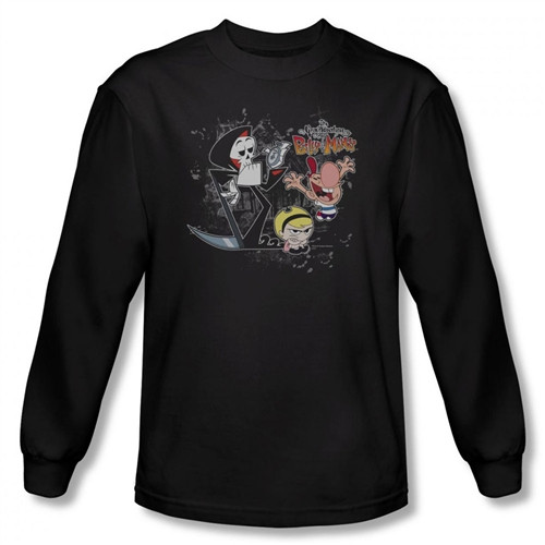 Grim Adventures of Billy and Mandy Splatter Cast Long Sleeve T-Shirt