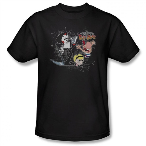 Image Closeup for Grim Adventures of Billy and Mandy Splatter Cast T-Shirt