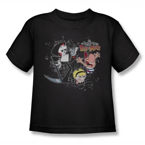 Image for Grim Adventures of Billy and Mandy Splatter Cast Kids T-Shirt