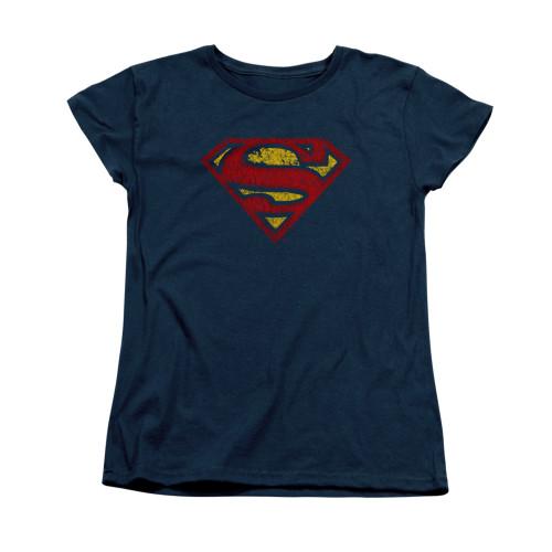 Image for Superman Womans T-Shirt - Crackle S
