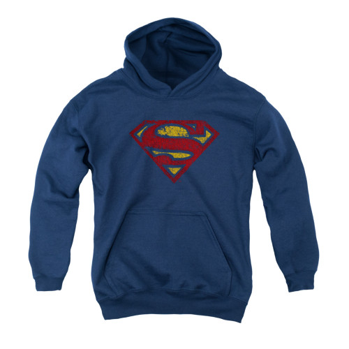 Image for Superman Youth Hoodie - Crackle S