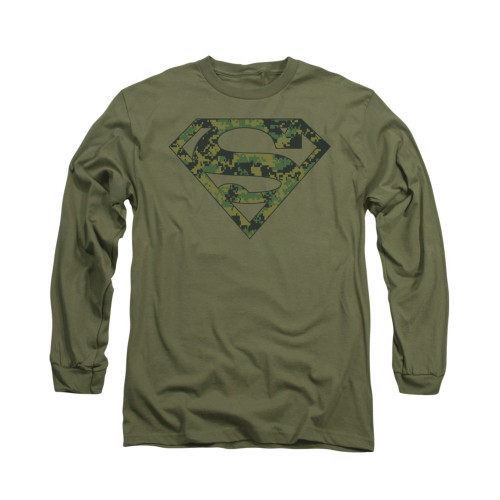 Image for Superman Long Sleeve Shirt - Marine Camo Shield