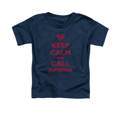 Image for Superman Toddler T-Shirt - Call Superman