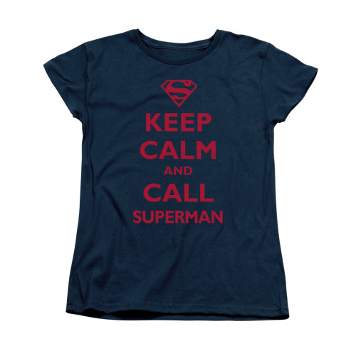 Image for Superman Womans T-Shirt - Call Superman