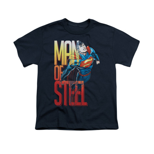 Image for Superman Youth T-Shirt - Steel Flight