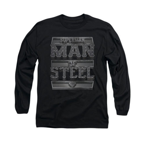 Image for Superman Long Sleeve Shirt - Steel Text