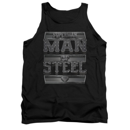 Image for Superman Tank Top - Steel Text