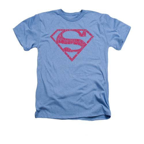 Image for Superman Heather T-Shirt -  Word Shield