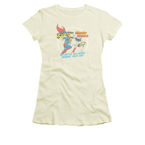 Image for Superman Girls T-Shirt - Battle Of The Sexes