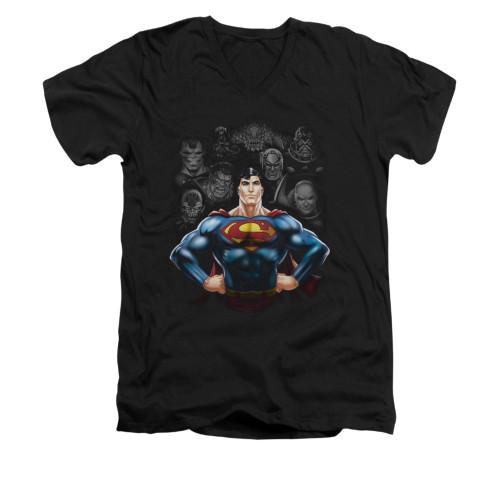 Image for Superman V Neck T-Shirt - Villains