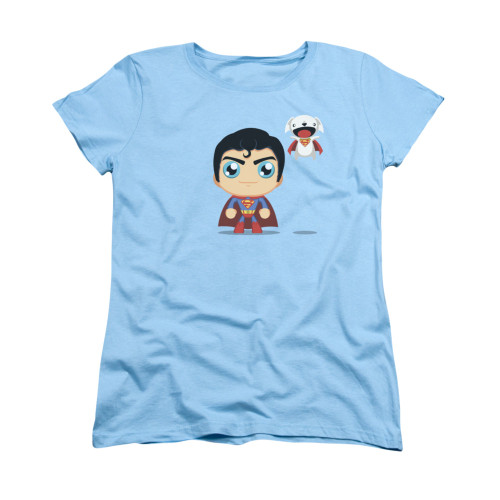 Image for Superman Womans T-Shirt - Cute Superman