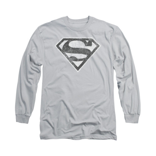 Image for Superman Long Sleeve Shirt - Grey S