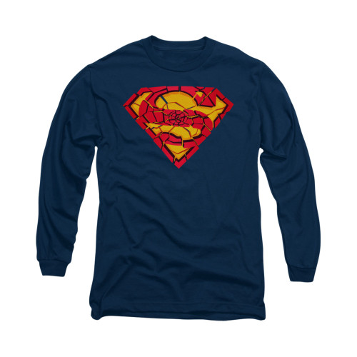 Image for Superman Long Sleeve Shirt - Shattered Shield
