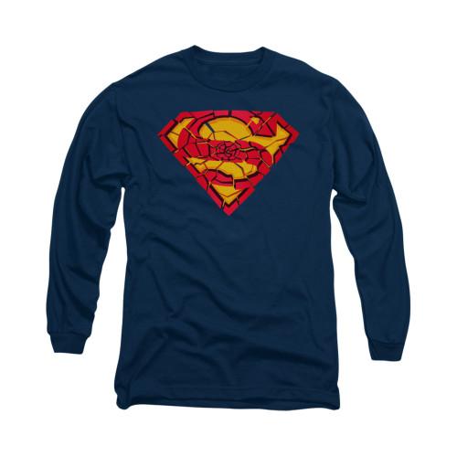Image for Superman Long Sleeve Shirt - Shattered Shield