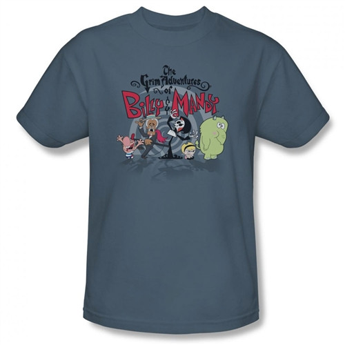 Image Closeup for Grim Adventures of Billy and Mandy Group Shot T-Shirt