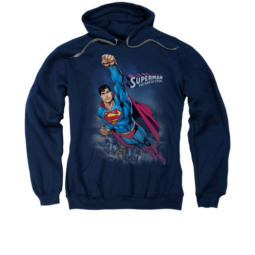 Image for Superman Hoodie - Twilight Flight