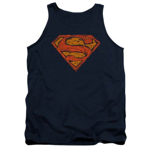 Image for Superman Tank Top - Messy S