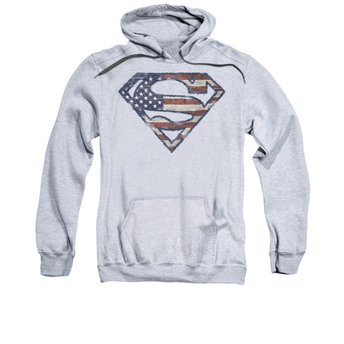 Image for Superman Hoodie - Wartorn Flag