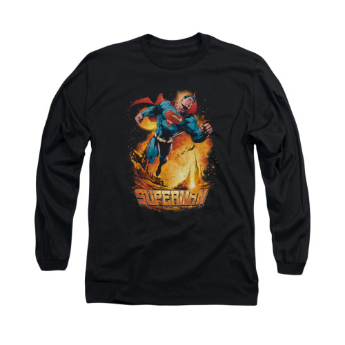 Image for Superman Long Sleeve Shirt - Space Case