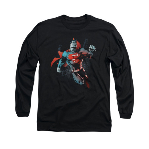 Image for Superman Long Sleeve Shirt - Up In The Sky
