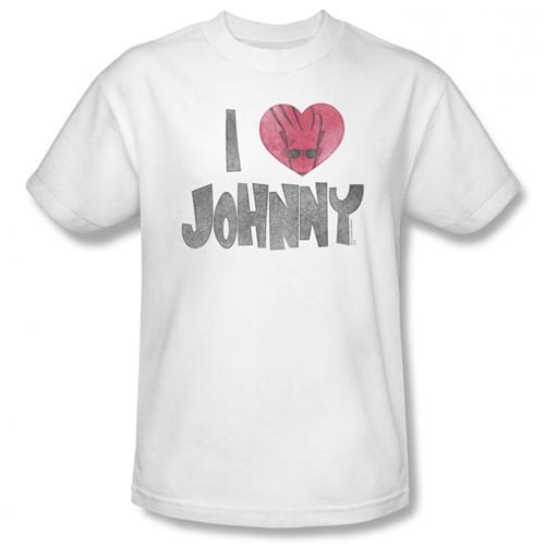 Image Closeup for Johnny Bravo I Heart Johnny T-Shirt